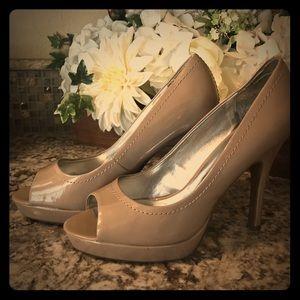 Candie's Yunnis Nude Peep Toe Stiletto Heel 9